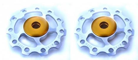 kcnc paire de galets de derailleur argent roulements ceramique 9 10v