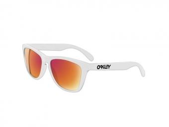 oakley paire de lunettes frogskins pol white w ruby ir ref24 307