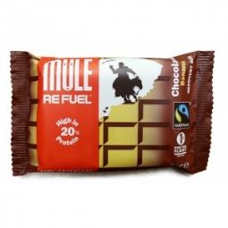 mulebar barre de recuperation hyper proteinee refuel chocolat banane 65g