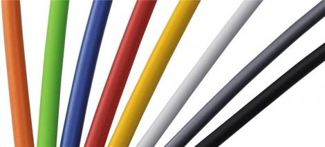 shimano jeu cables et gaines ptfe teflon freins route blanc
