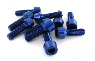 msc kit 10 vis alu m5 x 16 mm 7075t6 bleu