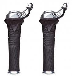 sram paire de grip shift x0 3 x 10v silver