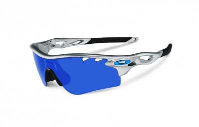 oakley paire de lunettes radarlock path silver ice iridium ref oo9181 03