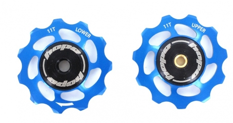 paire de galets hope 11 dents shimano 9 10 11 vitesses bleu