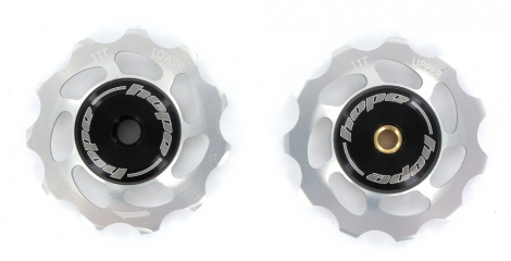 paire de galets hope 11 dents shimano 9 10 11 vitesses argent