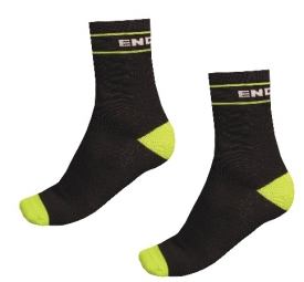 endura lot de 2 paire de chaussettes retro socks noir vert