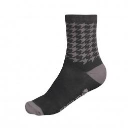endura lot de 2 paires de chaussettes houndstooth noir