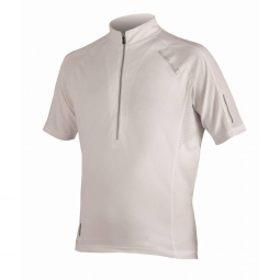 endura maillot manches courtes xtract blanc