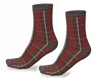 endura 2 paires de chaussettes plaid noir rouge
