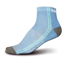 endura paires de chaussettes femme coolmax 3 paires blanc bleu
