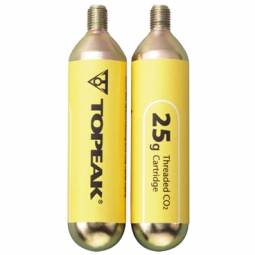 topeak 2 cartouches de co2 cartridge 25g