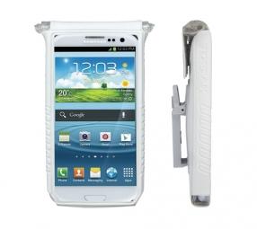 topeak housse pour smartphone drybag 5 pour ecran de 4 et 5 blanc