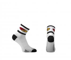 northwave paire de chaussettes comp 2 blanc noir