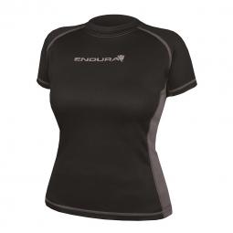 endura maillot femme manches courtes pulse noir gris