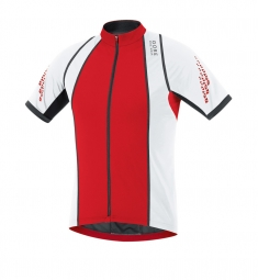 gore bike wear maillot manches courtes xenon 2 0 rouge blanc