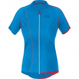 gore bike wear maillot manches courtes femmes countdown 3 0 bleu rouge