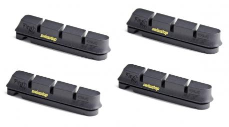 swissstop 2 paires de patins flash pro black prince jantes carbone shimano sram