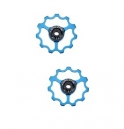 aerozine paire de galets 9 10 vitesses bleu