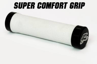 renthal paire de grips lock on super soft blanc