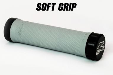 renthal paire de grips lock on soft gris