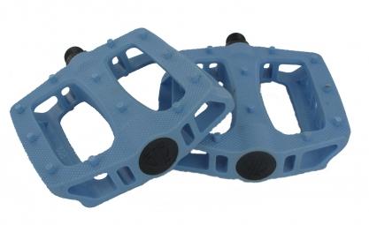 blb paire de pedales plates t rex bleu