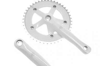 blb pedalier track manivelles 165 mm blanc 46