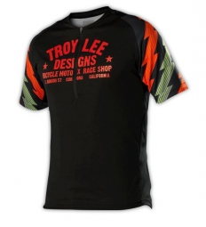 troy lee designs manches courtes ace noir