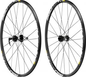 mavic 2015 paire de roues crossride disc 27 5 axes 15 12x142 mm 6 trous