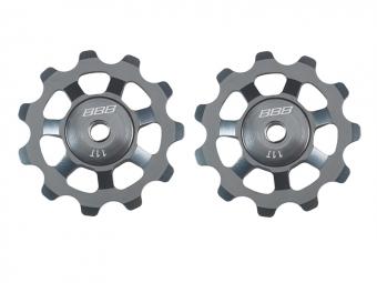 bbb paire de galets aluboys roulements acier 9 10 11 vitesses gris