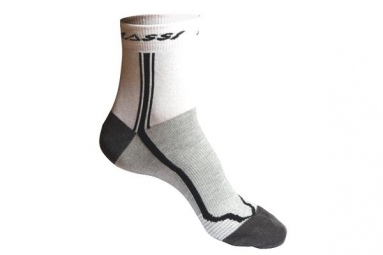 massi socquettes classic blanc gris