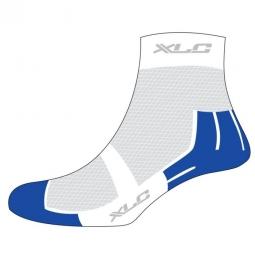 xlc paire de chaussettes coolmax cs c02 blanc bleu