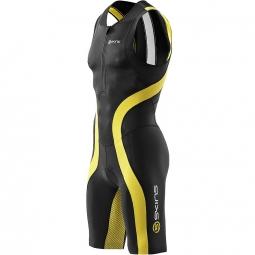 skins combinaison zip avant tri 400 homme noir jaune
