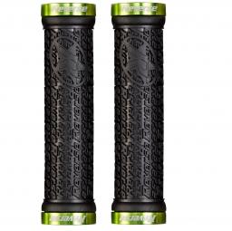 reverse paire de grips stamp noir vert