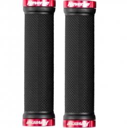 reverse paire de grips lock on noir rouge