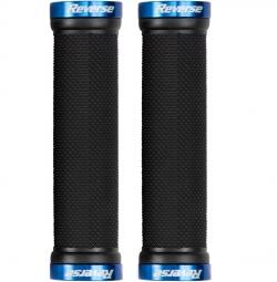 reverse paire de grips lock on noir bleu
