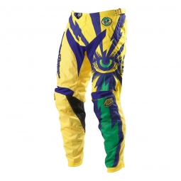 troy lee designs pantalon gp cyclops jaune violet