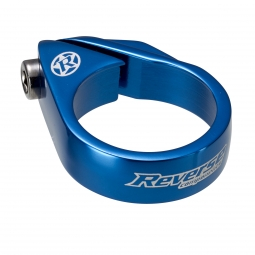 reverse collier de selle a vis diametre 34 9 mm bleu