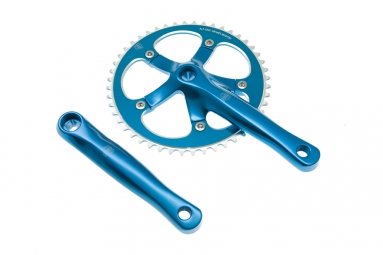 blb pedalier track 165mm 48 dents bleu