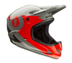 casque integral 661 sixsixone rage carbon noir rouge