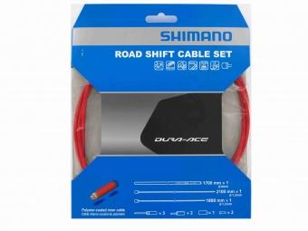 shimano kit cables et gaines derailleur dura ace 9000 rouge