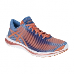 asics chaussures gel super j33 orange bleu femme