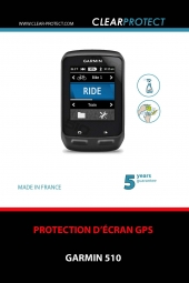 clearprotect film de protection pour garmin 510