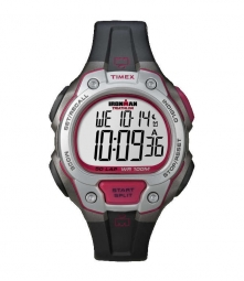 timex montre ironman triathlon 50 noir rouge