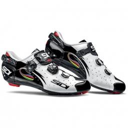 chaussures route sidi wire carbon blanc noir