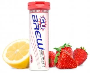 gu 12 pastilles effervescentes brew electrolyte gout fraise