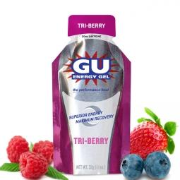 gu gel energetique gout trois fruits rouges