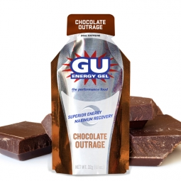gu gel energetique gout chocolat intense