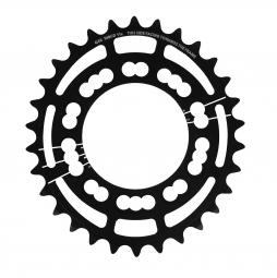 rotor plateau route interieur q rings 30 dents triple 74mm bcd noir