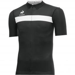 le coq sportif maillot manches courtes arac noir blanc