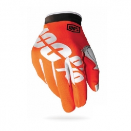 100 paire de gants itrack fire orange
